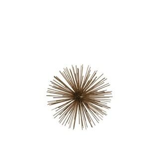 Ornamental Sea Urchin Sculpture In Metal, Small, Gold