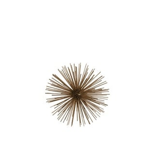 Ornamental Sea Urchin Sculpture In Metal, Small, Gold
