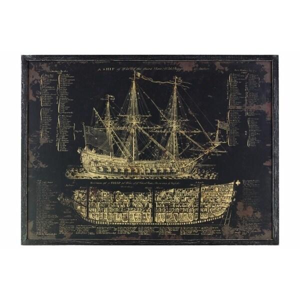 Shop Wooden Rectangular Gicl 239 191 189 E Print Of Quot Galleon