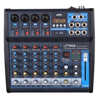 Pyle PMXU63BT Bluetooth 6 Ch. Studio / DJ Controller Audio Mixer