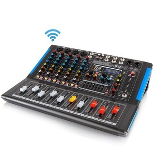 Pyle PMXU67BT Bluetooth 6 Ch. Studio DJ Controller Audio Mixer