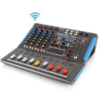 Pyle PMXU46BT Bluetooth 4 Ch. Studio DJ Controller Audio Mixer System