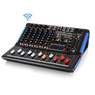 Pyle PMXU88BT Bluetooth 8 Ch. Studio DJ Controller Audio Mixer