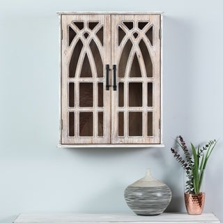Double Door Wood Mounted Wall Cabinet
