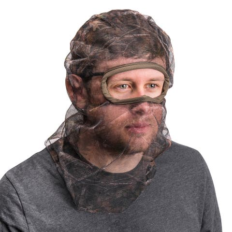 QuietWear Men's Full Cover Form Fit Mesh Facemask