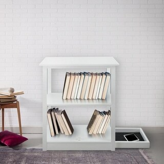 Adams 3-shelf Bookcase with Concealed Sliding Track