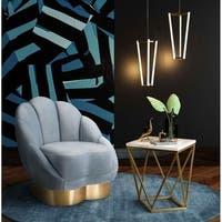 Bloom Sea Blue Velvet Chair