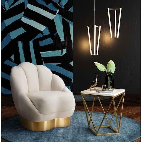 Bloom Cream Velvet Chair