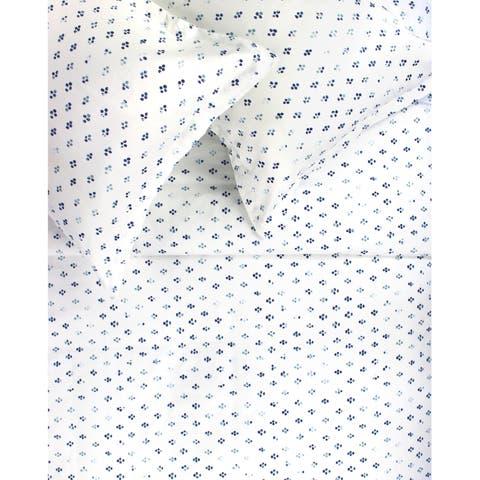 Printed Design Cotton Collection 400 Thread Count Blue Broken Diamond Duvet Set