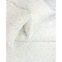 Printed Design Cotton Collection 400 Thread Count Blue Daisy Duvet Set