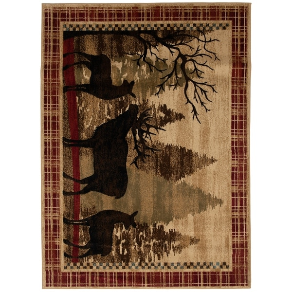 Mayberry Rugs Red River Elk Deer Lodge Area Rug. Opens flyout.