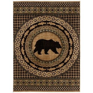 Link to Mayberry Rugs Asheville Lodge Bear Area Rug Similar Items in Rugs