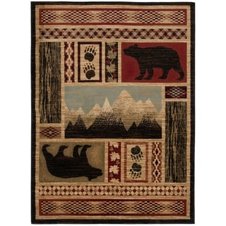 Mayberry Rugs Aspen Multi Lodge Bear Area Rug