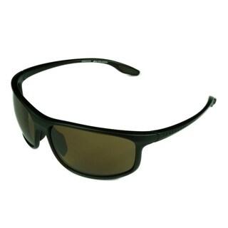 Serengeti Ponza Mens Sunglasses Sanded Dark Beer Brown Frame w/ Polarized PHD Drivers Lens