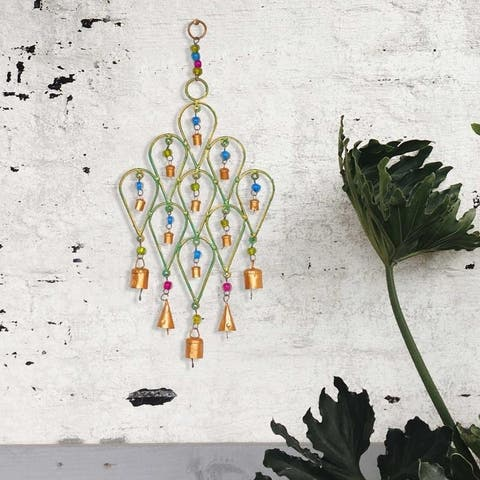 Handmade Beaded Chime Tear Drop Design (India)