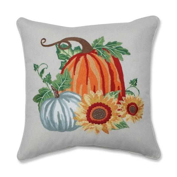 Shop Pillow Perfect Pumpkin Patch Embroidered Decorative
