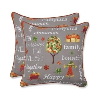 Autumn Harvest Haystack Indoor/Outdoor Accent Pillow Set of 2