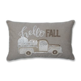 Pillow Perfect Hello Fall Natural Off White Decorative Appliqued 11.5x18.5-inch Lumbar Throw Pillow