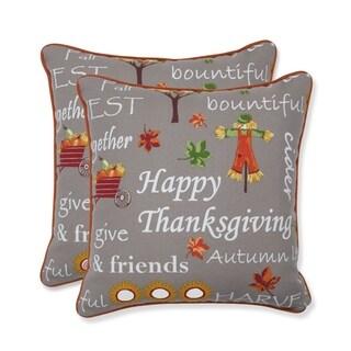 Autumn Harvest Haystack Indoor/Outdoor Throw Pillow (Set of 2) - 16.5 X 16.5