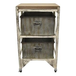 Three Hands Grey Wood Cabinet