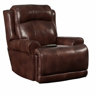 Southern Motion High Power SoCozi Brown Leather Massage Rocker Recliner