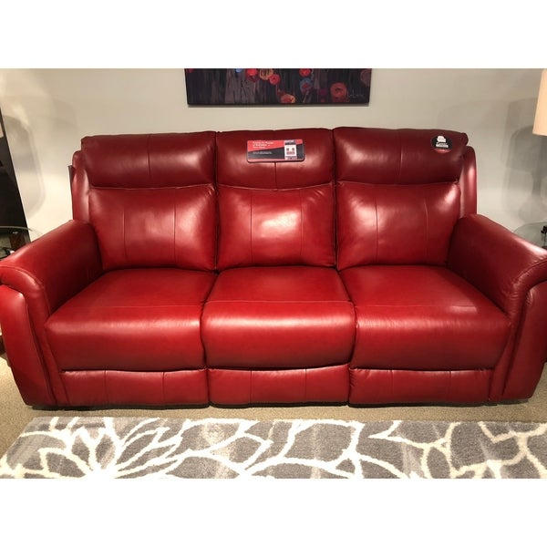 Shop Southern Motion Uptown Red Leather Double Reclining Sofa - Free ...