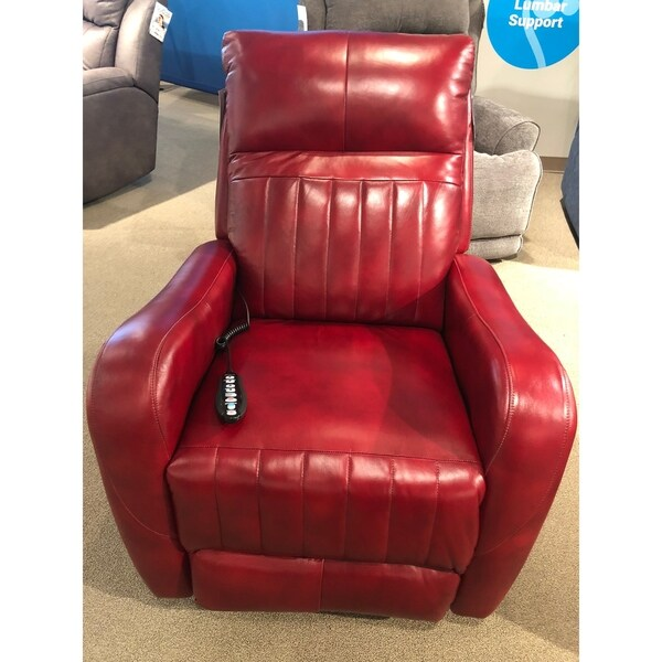 Southern Motion's Racetrack SoCozi Red Massage Wall Hugger Recliner