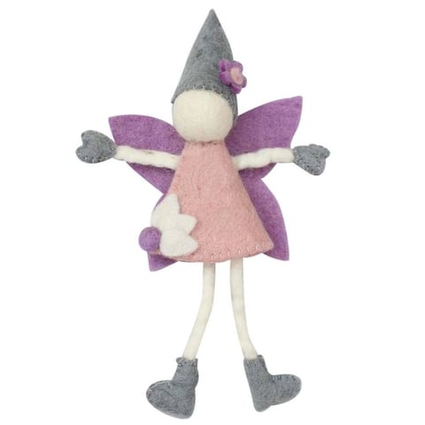 Handmade Cream Tooth Fairy with Hat (Nepal) - Pink