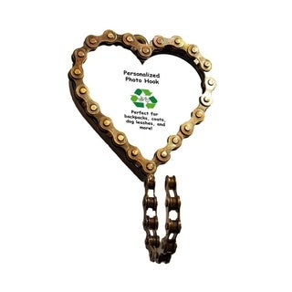 Handmade Heart Bicycle Chain Picture Frame Hook (India)