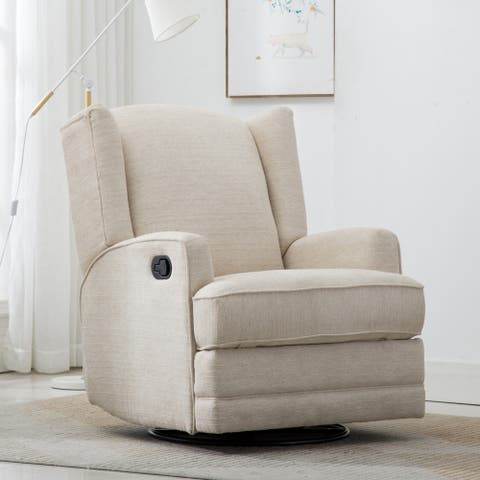 Shelby Wingback Swivel Glider Recliner by Greyson Living