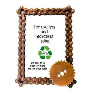 Handmade Bicycle Chain and Gear Photo Frame (India)