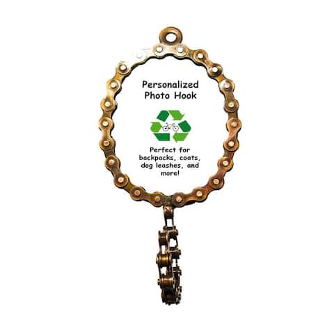 Oval Bicycle Chain Picture Frame Hook (India)