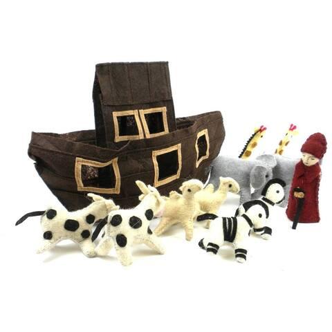 Handmade Felt Noah's Ark (Kyrgyzstan) - White