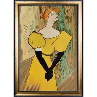 Henri de Toulouse-Lautrec 'Yvette Guilbert' Hand Painted Oil Reproduction