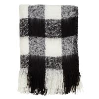 Buffalo Plaid Faux Mohair Throw