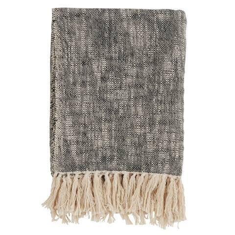 Solid Tasseled Cotton Throw