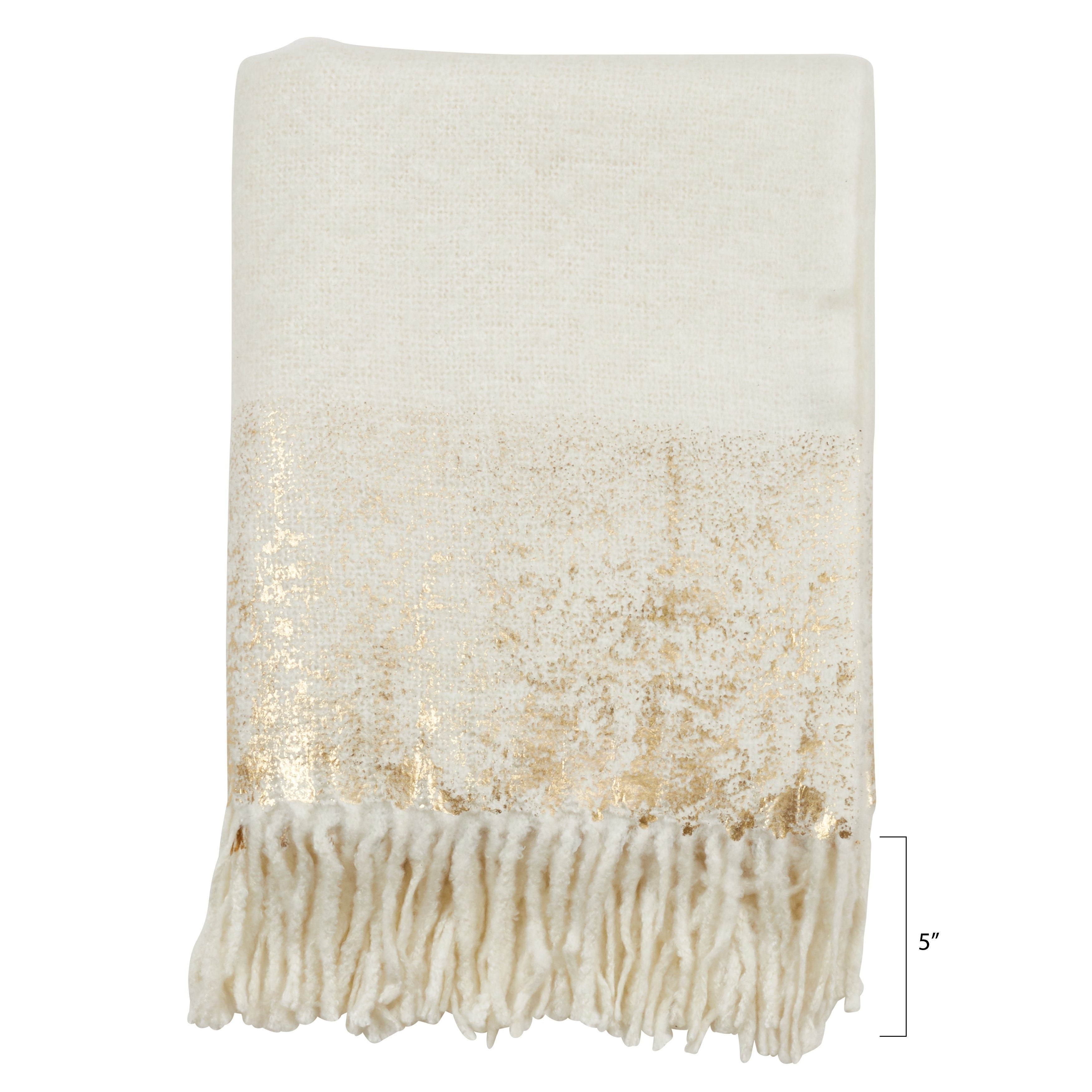 Cotton Throw With Foil Print Design Gold Throw For Sale Online Ebay