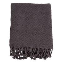 Diamond Weave Tassel Throw Blanket