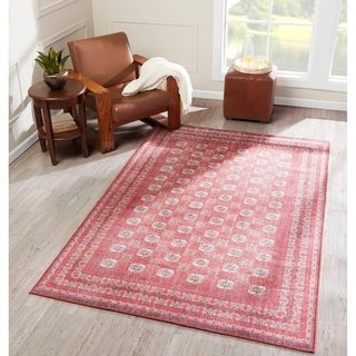 "Momeni Afshar Machine Made Polyester Area Rug - 7'6"" x 9'6"""