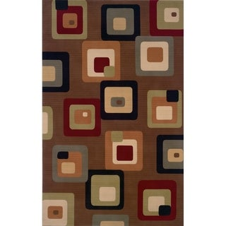 "Momeni Elements Machine Made New Zealand Wool Brown Area Rug - 2'6"" x 4'2"""