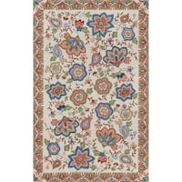 Momeni Spencer Hand Hooked Wool Beige Area Rug - 5' x 8'