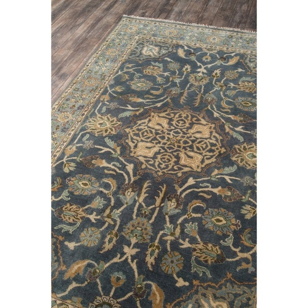100 Wool Hand Knotted Traditional Area Rug Blue Momeni Rugs Shalimar Collection 26 X 8 Runner Home Kitchen Home Décor