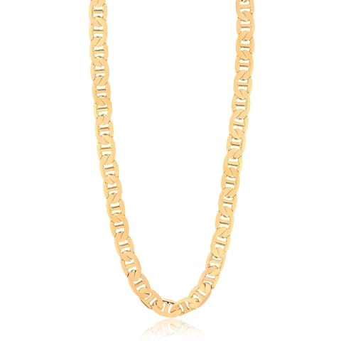 Gold Plated Gold 24inch Gucci Link Chain Necklace