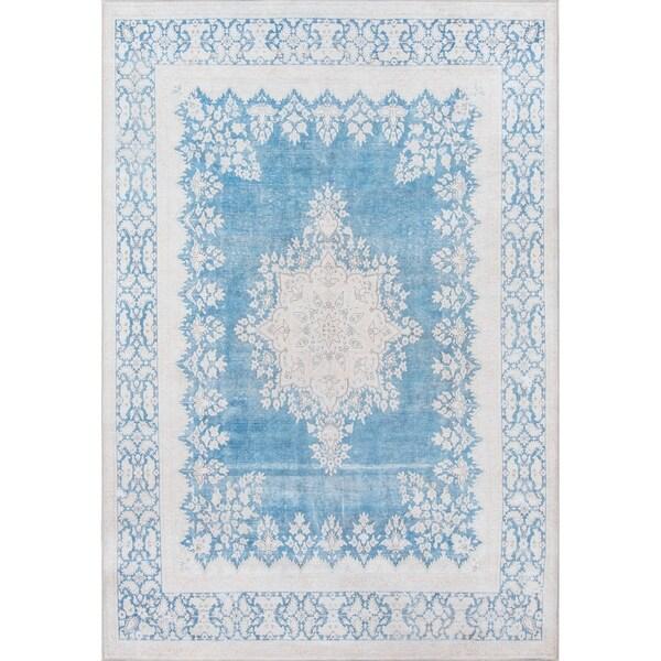 "Momeni Afshar Machine Made Polyester Blue Area Rug - 8'5"" x 12'"