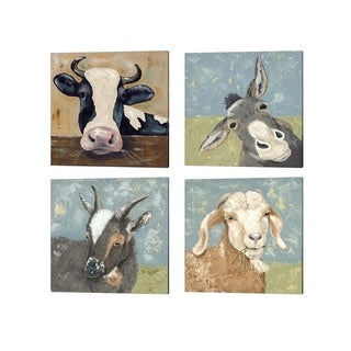 Jade Reynolds 'Farm Life B' Canvas Art (Set of 4)