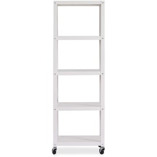 """Lorell RTA Mobile Bookcase - 72"""" Height x 24"""" Width x 14"""" Depth"""