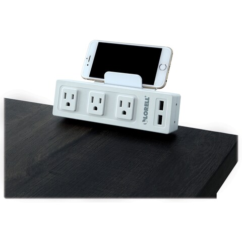 Lorell Desktop AC Power Center - 3 x AC Power, 2 x USB