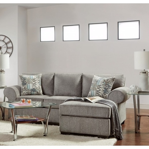 Shop SofaTrendz Claire Nickel Grey Sofa Chaise - Free Shipping Today ...