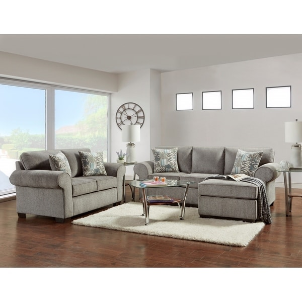 Admirable Sofatrendz Claire Nickel Grey Sofa Chaise Loveseat Set Interior Design Ideas Clesiryabchikinfo