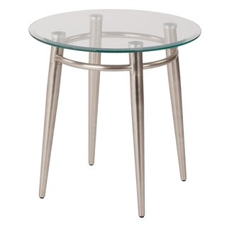 Mid Century Brooklyn Round Top Glass End Table
